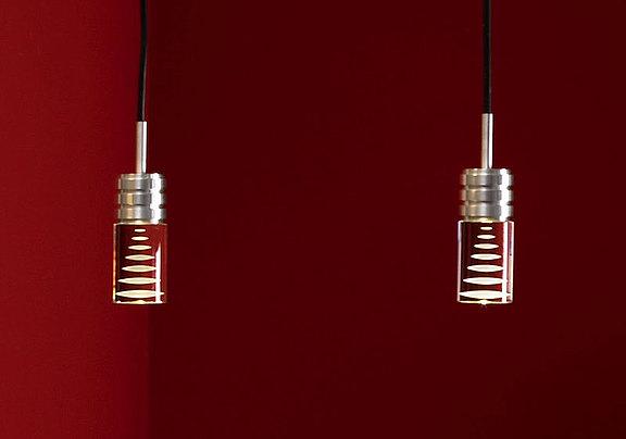 Laser engraved inside LED design lighting