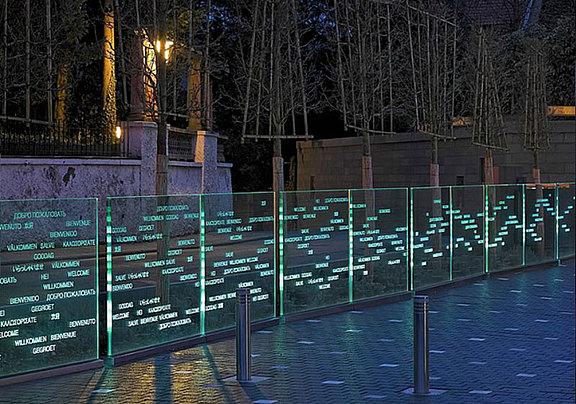 Innovative laser design with LED light