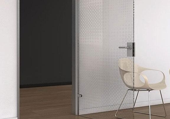 Lasermattierte Tür